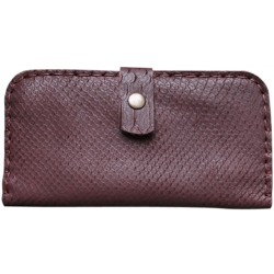 Leather Wallet for Her - Brown Patterned