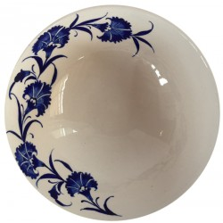 Ceramic Bowl with Carnation Pattern