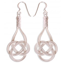 Kazaziye 'Love Knot' Silver Earrings