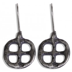 Urartian Silver Earrings - 2