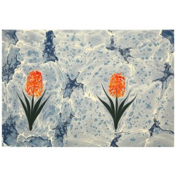 Hyacinth Marbling Art on Paper
