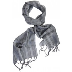 Silk Male Scarf - Grey
