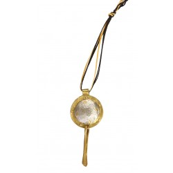 Round Necklace with Brass