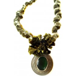 Dark Green Velvet Necklace