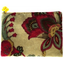 Flower Patterned Cosmetic Bag