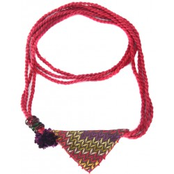 Muska Necklace - Fuchsia