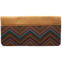 Milky Chocolate Kilim Clutch Bag