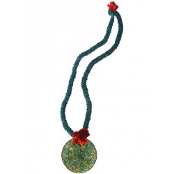 Ottoman Tile Medallion Necklace