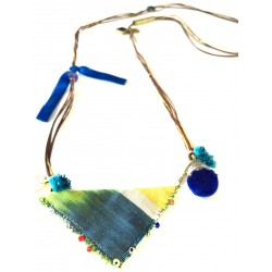 Muska Long Necklace - Blue Ribbon