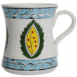 Rumi Coffee Mug with Leaf Patterns