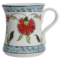 Rumi Coffee Mug with Carnation Patterns