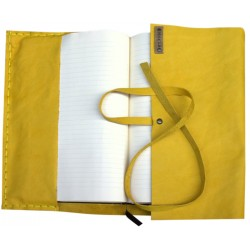 Leather Book Cover - Yellow